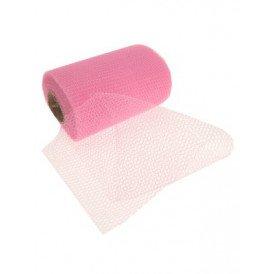 Decoratie gaas op rol roze 15cm/32m