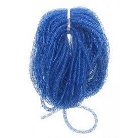 Decoslang tube op rol blauw per 30 meter