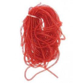 Decoslang tube op rol rood per 30 meter