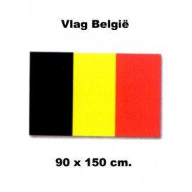 Vlag Belgie 90 x 150 cm.