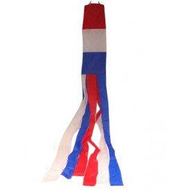 Windsock rood/wit/blauw 120 cm.