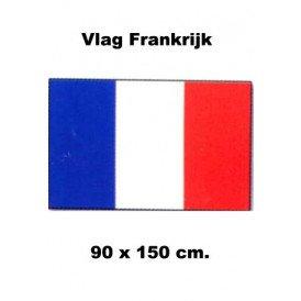 Vlag Frankrijk 90 x 150 cm.