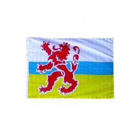 Vlag Limburg met leeuw 90 x 150 cm.
