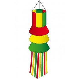 Windsock rood/geel/groen met slierten 180 cm.