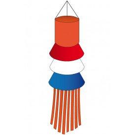Windsock rood-wit-blauw-oranje slierten 180 cm