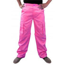 Broek neon roze