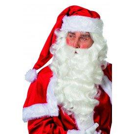 Kerstman pruik en baard, wit
