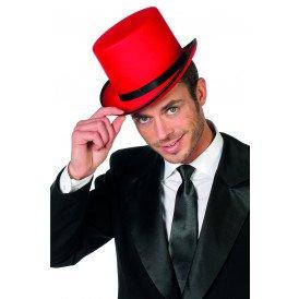 Hoge hoed, rood