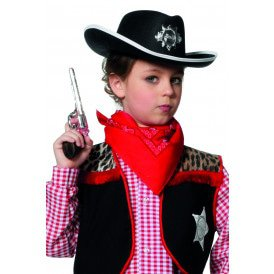 Cowboyhoed met ster, zwart