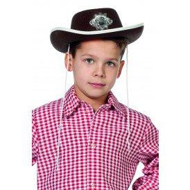 Cowboyhoed met ster, bruin