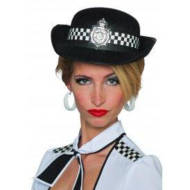 Politiehoed Londen dames, zwart