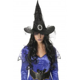 Heksenhoed, zwart