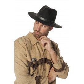 Cowboyhoed wolvilt, zwart