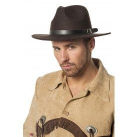 Cowboyhoed wolvilt, bruin