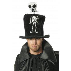 Hoge hoed skelet, zwart