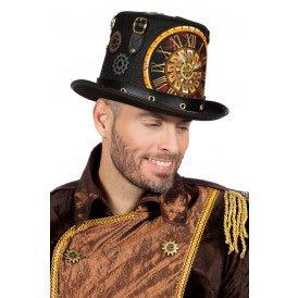 Hoge hoed Steampunk klok