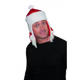 Kerstmuts met kerstman, rood