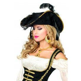 Luxe piraten/garde hoed, zwart