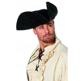 Piraten driesteek groot met kruis, zwart