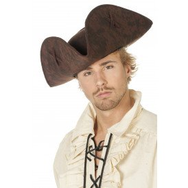 Piraten driesteek groot met kruis, bruin