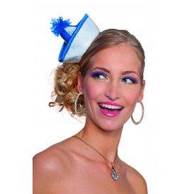 Mini matrozenhoedje, blauw