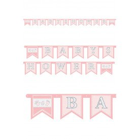 Letterguirlande BABYSHOWER meisje