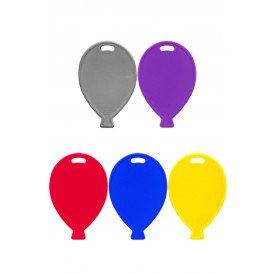 Ballongewichtjes plastic ass kleuren per 100