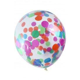 Ballon transparant 12 inch confetti bont per 6
