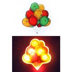 Lightpin tros ballonnen rood/geel/groen 5 x 4.7 cm