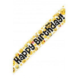 Banner emoticons HAPPY BIRTHDAY 2.7 mtr.