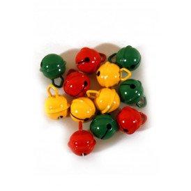 Belletjes R1 15 mm 12 st in z.b. rood-geel-groen