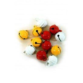 Belletjes R1 15 mm 12 st in z.b. rood-wit-geel