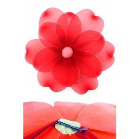 Bloem rood deco dia 55 cm met clip