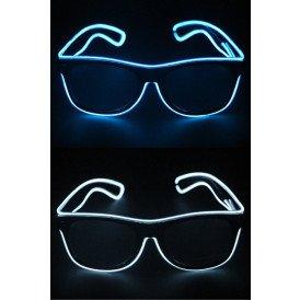 Bril met LED-lights blauw en wit