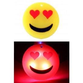 Smiley hartjes pin met licht