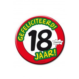 XL Button 18 jaar