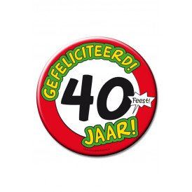 XL Button 40 jaar