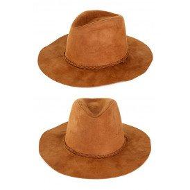 Cowboyhoed suede Indiana bruin
