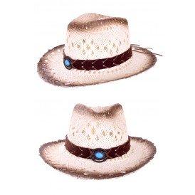 Cowboyhoed luxe met band en steen
