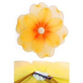 Bloem geel deco dia 55 cm met clip
