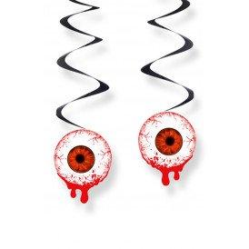 Decoratie swirls ogen met bloed 3 st. 60 cm.