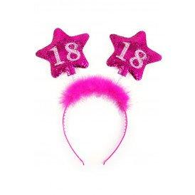 Diadeem roze sterren 18