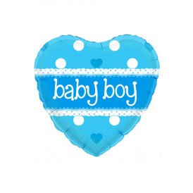Folie-ballon 18 inch Hart BABY BOY holographic