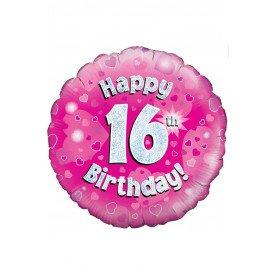 Folie-ballon 18 inch HAPPY 16 BIRTH
