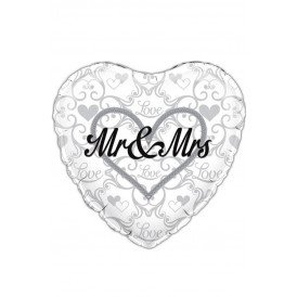 Folie-ballon 18 inch / 45,7 cm holographicMR & MRS