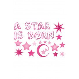 Adhesive geboorte a star is born roze meisjes