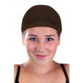 Haarkapje dames bruin 2st.