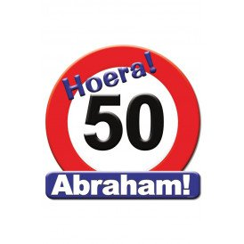 Huldeschild HOERA 50 ABRAHAM 50x50 cm