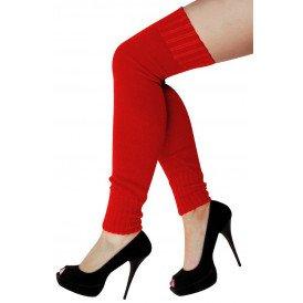 Dames knee-over beenwarmers rood