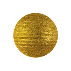 Lampion glitter goud 25 cm.
